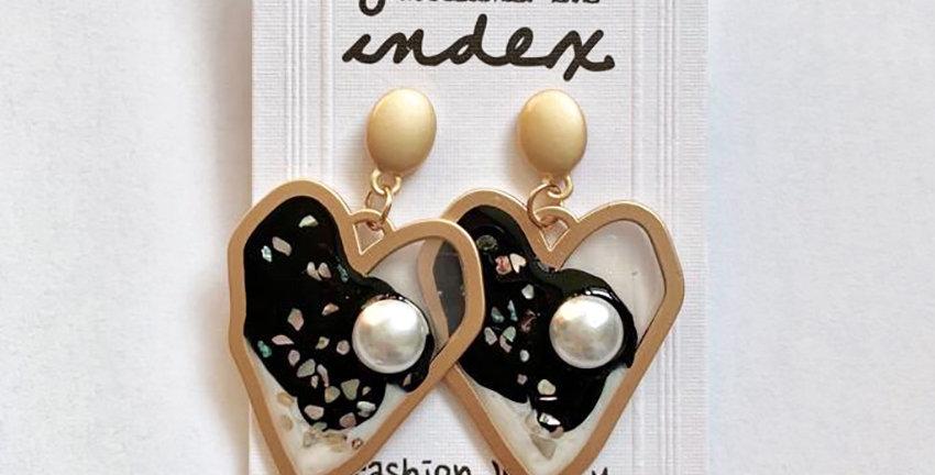 Big Heart Drop Earrings