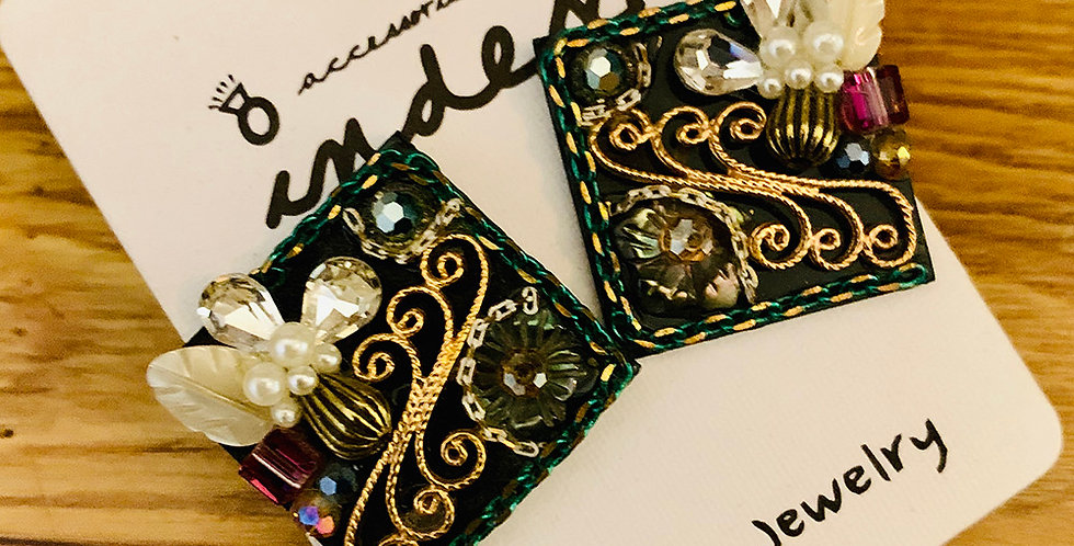 Embroidery Stud Earrings