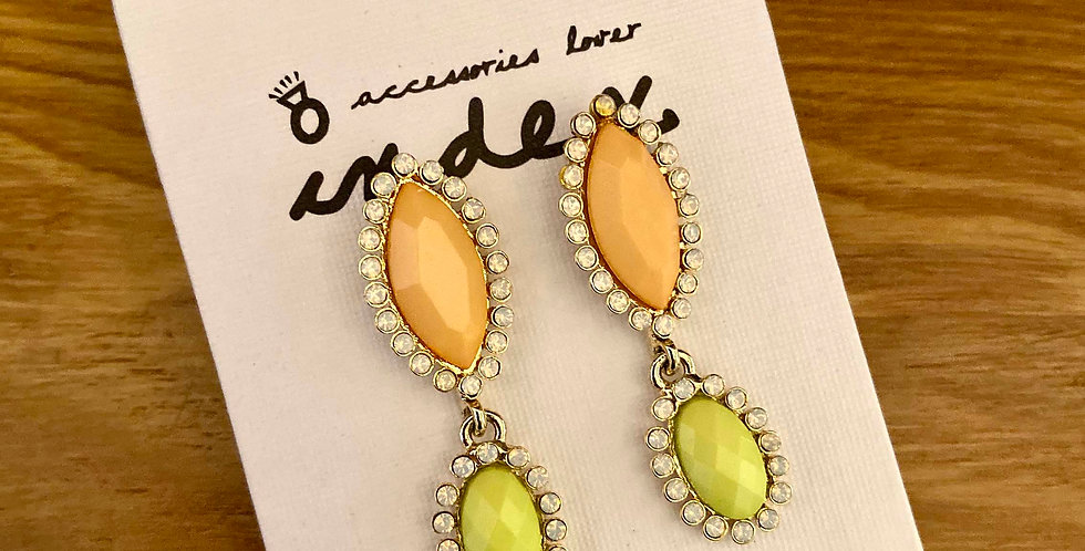 Sparkle Oval Short Drop Earrings