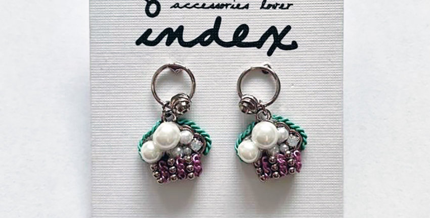 Little Cup Cake Short Drop Earrings