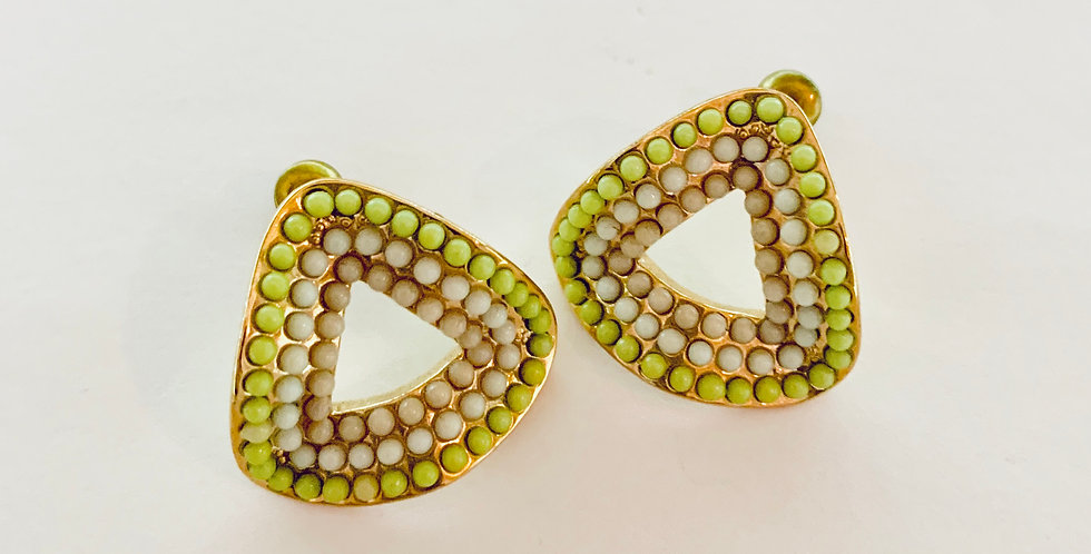 Triangle Beams Stud Earrings