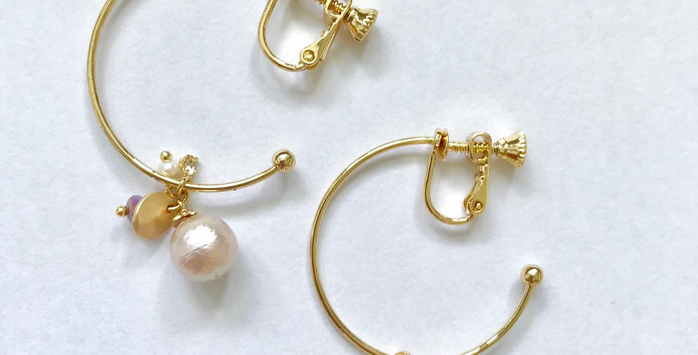 Fresh Water Pearl Clip Earrings
