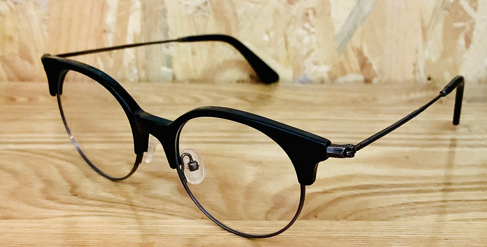 Clubmaster style Black Acetate Frame
