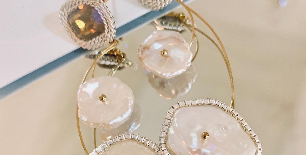 Pearls Statement Earrings