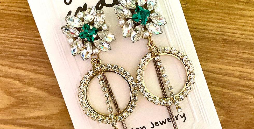 Sparkle Long Drop Earrings