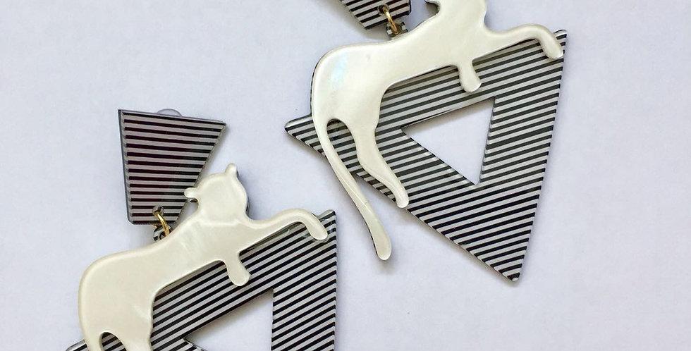 Leopard Resin Earrings