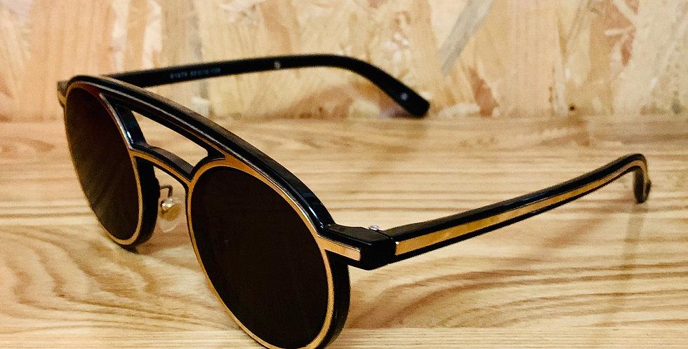 Round Shape Double Bridge Sunglasses