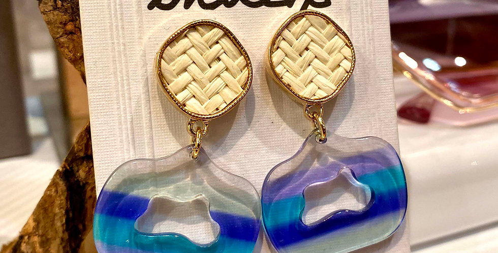 Weave Short Drop Earrings