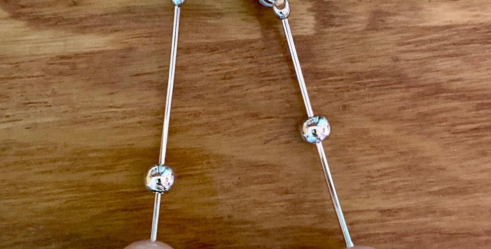 Silver Long Pearl Earrings