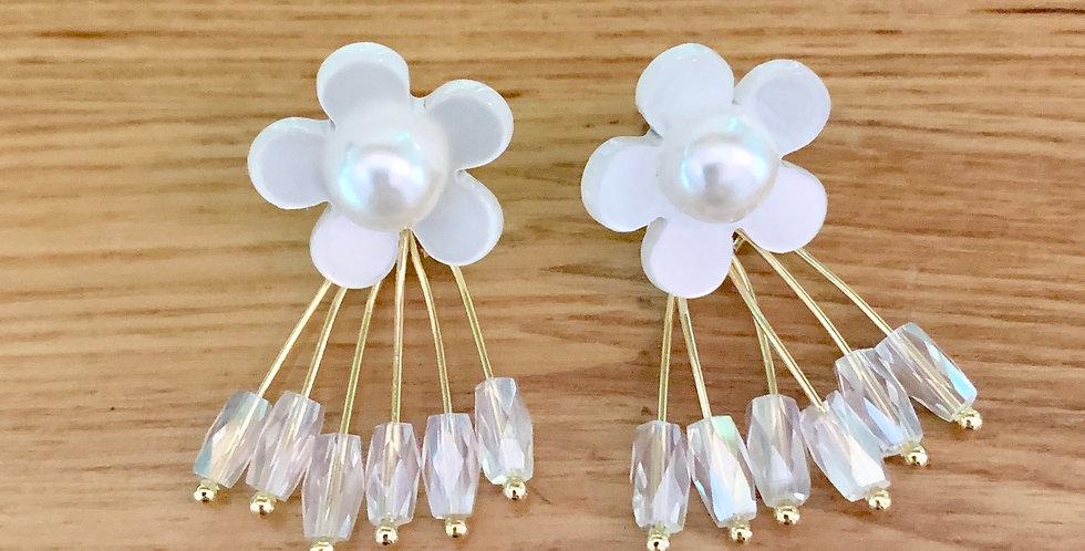 Resin Flower Drop Earrings
