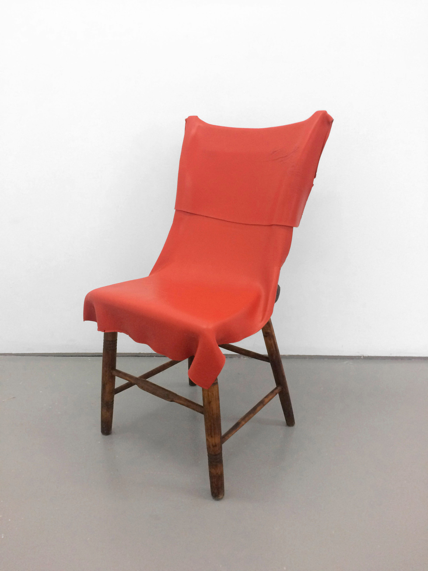 Paint on a chair, 2013. Acylic and wooden chair. 89 x 54 x 54 cm.