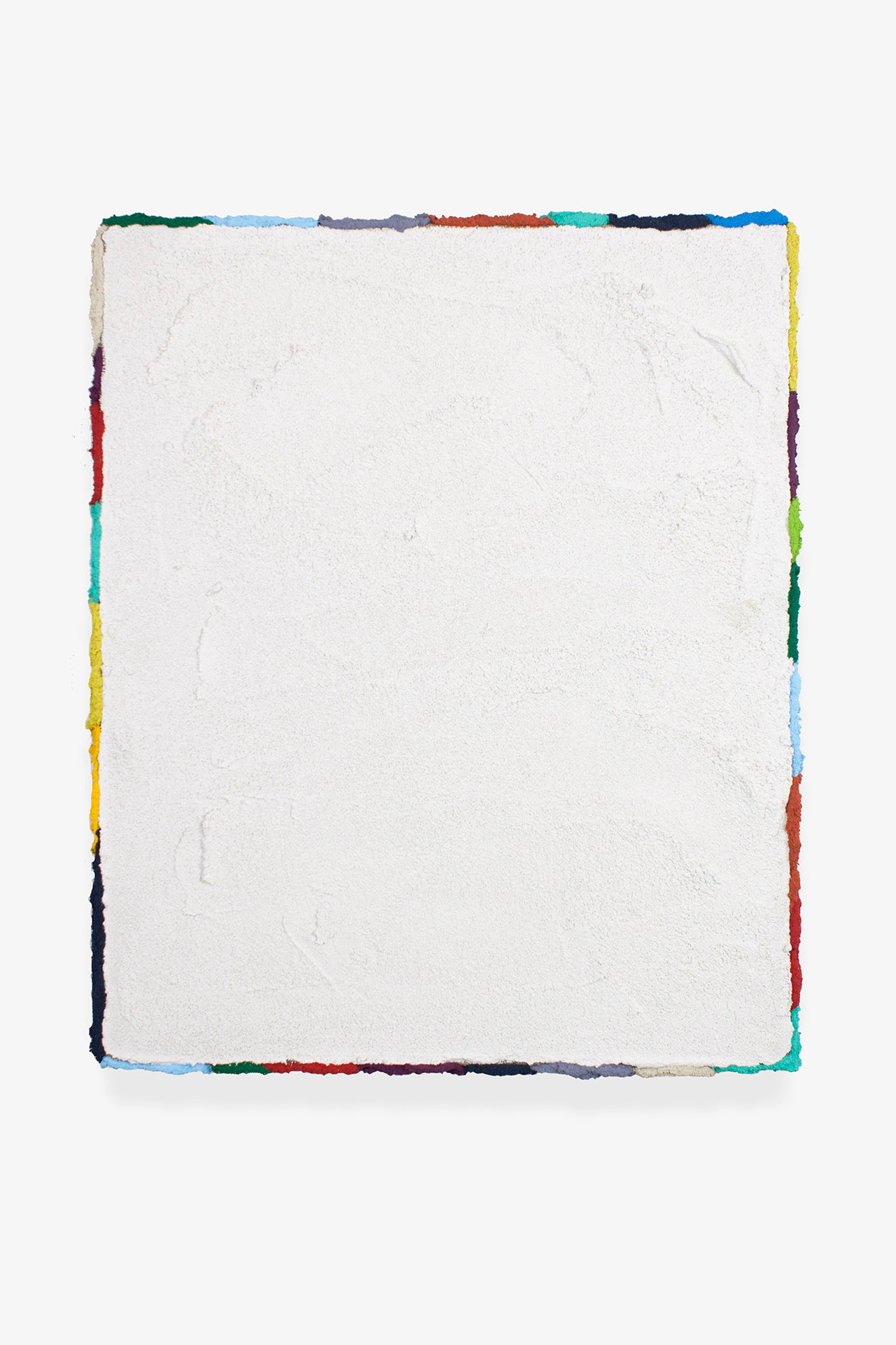 Pintura JL02, 2019. Acrylic, sand and limestone on linen. 47 x 39 cm.