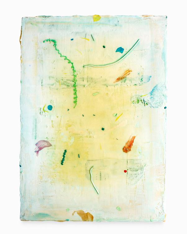 Rayo sin fin, 2017. Acrylic on canvas, 56 x 40 cm.