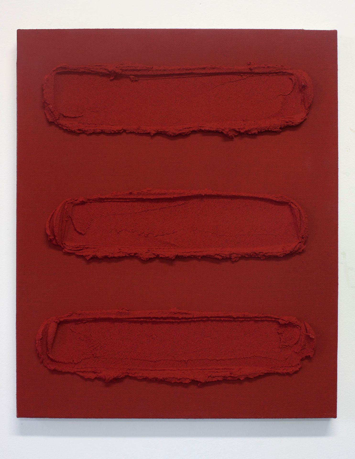 Pintura S07, 2019. Acrylic, sand and limestone on linen. 55 x 46 cm.
