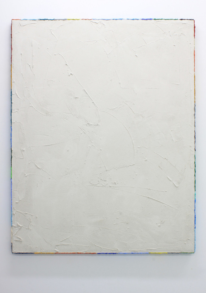 PR20, 2020. Acrylic, sand and limestone on linen. 163 x 131 cm.