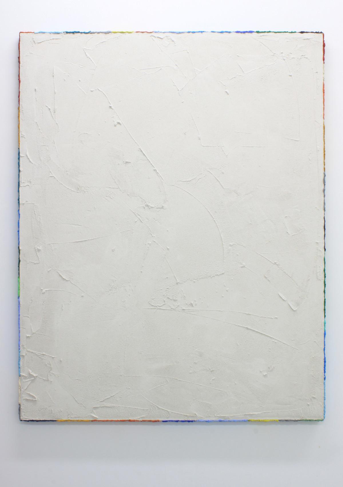 PR20, 2020. Acrylic, sand and limestone on linen. 163 x 131 cm.