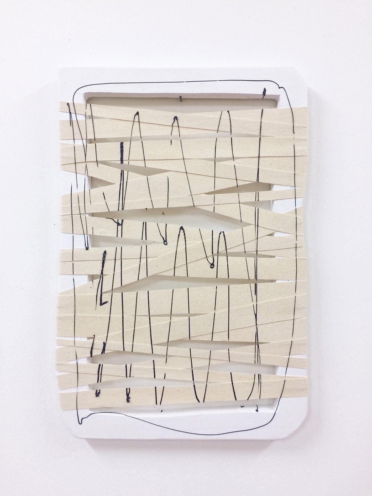 Giro, 2017. Acrylic, canvas and wood. 59 x 40 cm.
