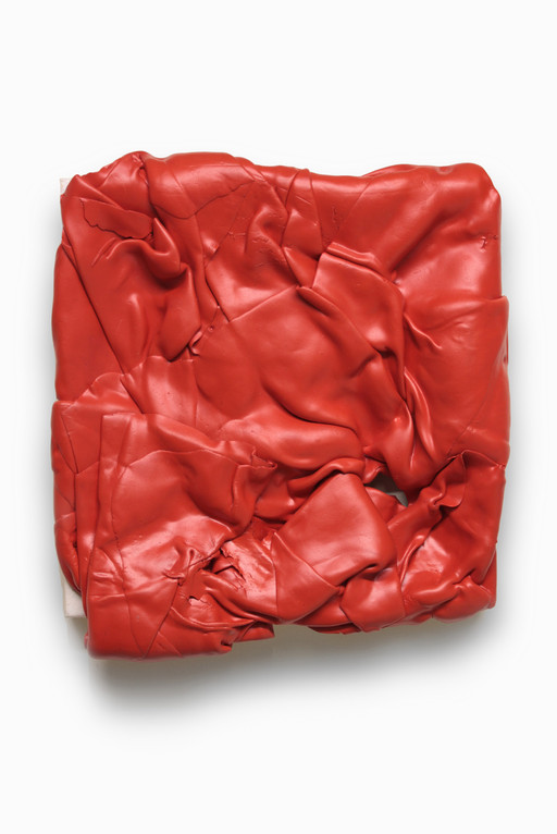 Untitled (Red), 2015. Acrylic on canvas.33 x 35 x 8 cm