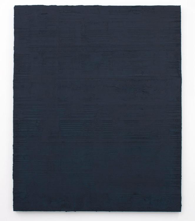 Sin título, 2017. Acrylic, sand and cement on linen. 150 x 120 cm.