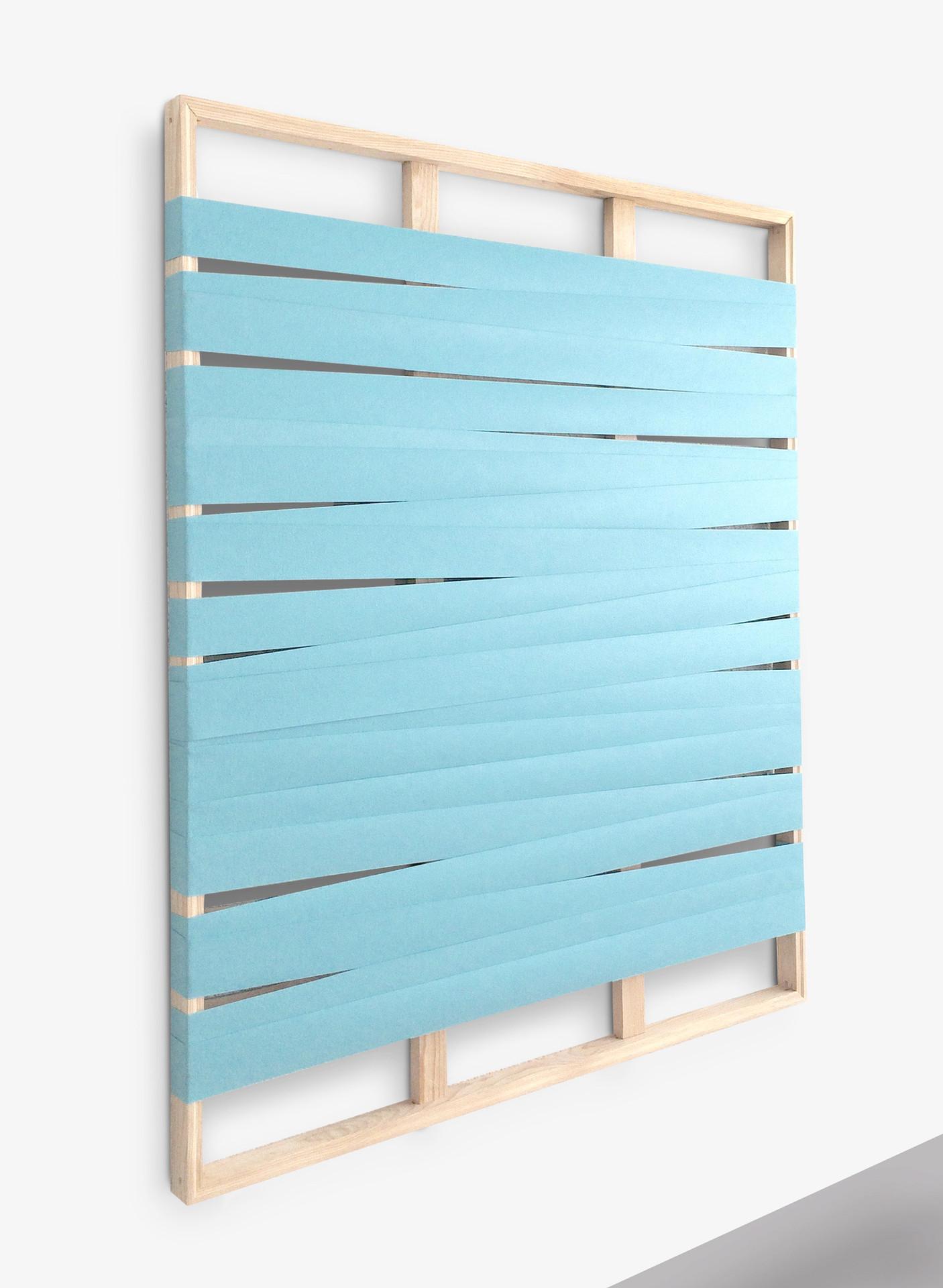 Lineas y espacios 5A, 2016. Acrylic on canvas. 132 x 106 cm.
