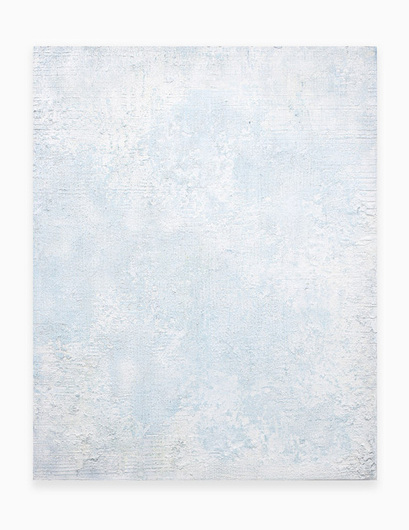 Sin título, 2018. Acrylic, sand, chalk, gypsum and pigments. 150 x 120 cm.