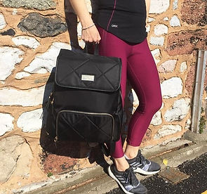 Womens Backpack, Gymbag, trainer compartment, laptop bag,