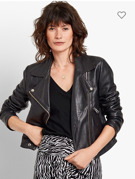 Black leather jacket Hush