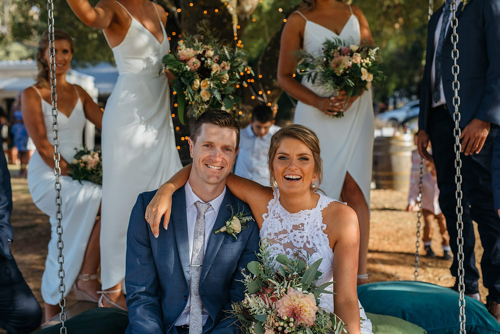 Hannah and Ryan wanted a relaxed fun wedding ceremony when I married them on the Mornington Peninsula