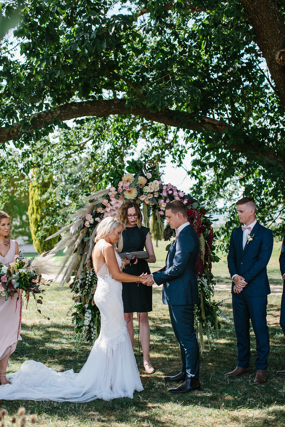 Under the flower arch at Stones