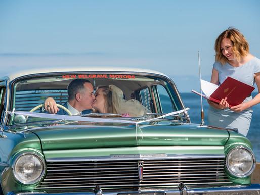 'I Do Drive Thru' - Australia's First Ever Drive-Thru Wedding Service Speeds into a City Near You