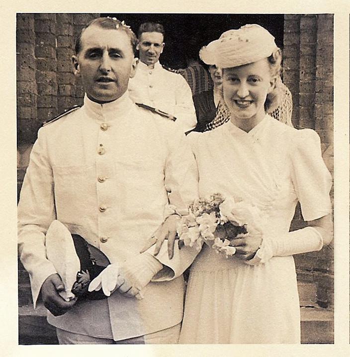 Australian Bride and Groom marry in Sydney, Australia during World War 2