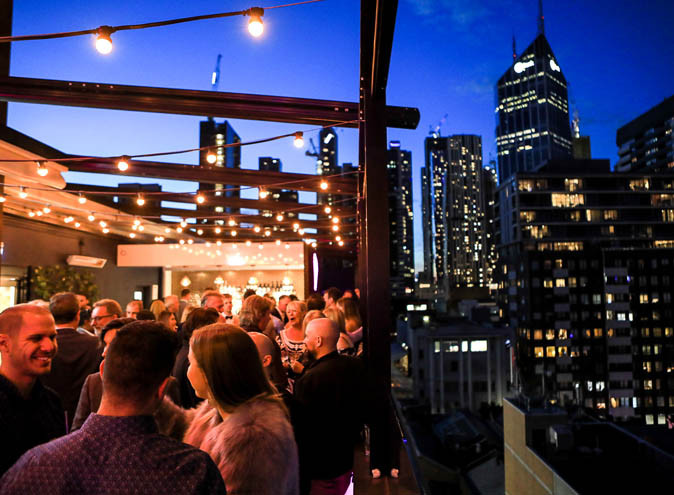 Melbourne's best rooftop venue for cocktail weddings is The Stolen Gem