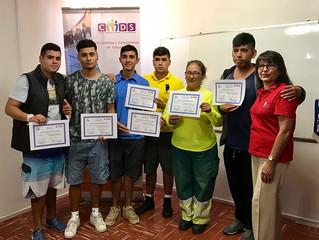 Cerca de 26 jóvenes fueron certificados en maquinaria pesada en Antofagasta
