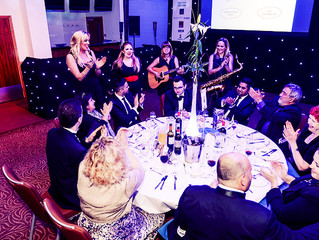 Busking Bellas at the FSB Surrey Business Awards