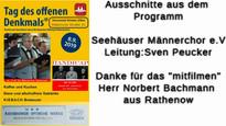 Der Männerchor Seehausen e.V. im Rundfunkmuseum. 11.09.2019.