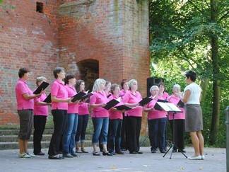 Feuerwerk der Chormusik vor romantischer Kulisse. Volksstimme 12.09.2012.