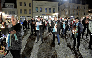 Eichstedter Chor auf dem Stendaler Markt
