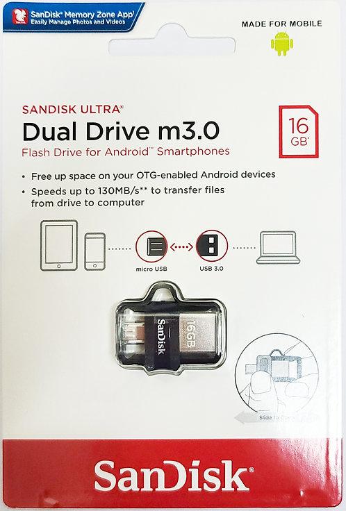 SanDisk Ultra Dual Drive USB M3.0 Flash Drive (SDDD3)