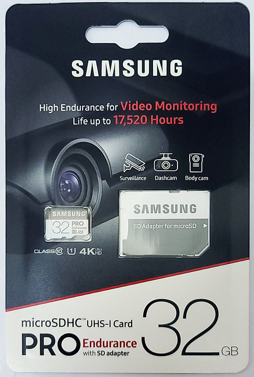 Samsung PRO Endurance Micro SD with SD Adapter (MB-MJ)