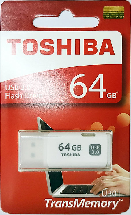 Toshiba TransMemory U301 USB 3.0 Flash Drive (THN-U301W-A4)