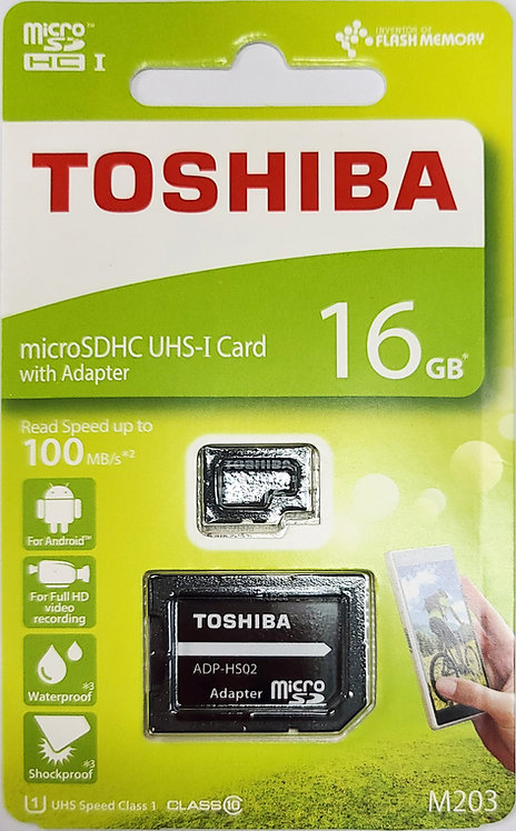 Toshiba EXCERIA M203 Micro SD Card with SD Adapter (THN-M203K-A2)