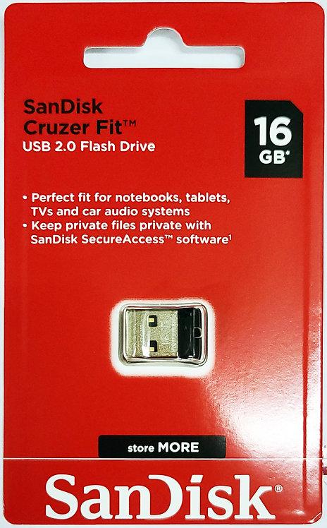 SanDisk Cruzer Fit USB 2.0 Flash Drive (SDCZ33)