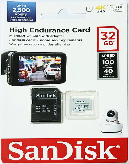 SanDisk High Endurance Micro SD Card with SD Adapter (SDSQQNR)