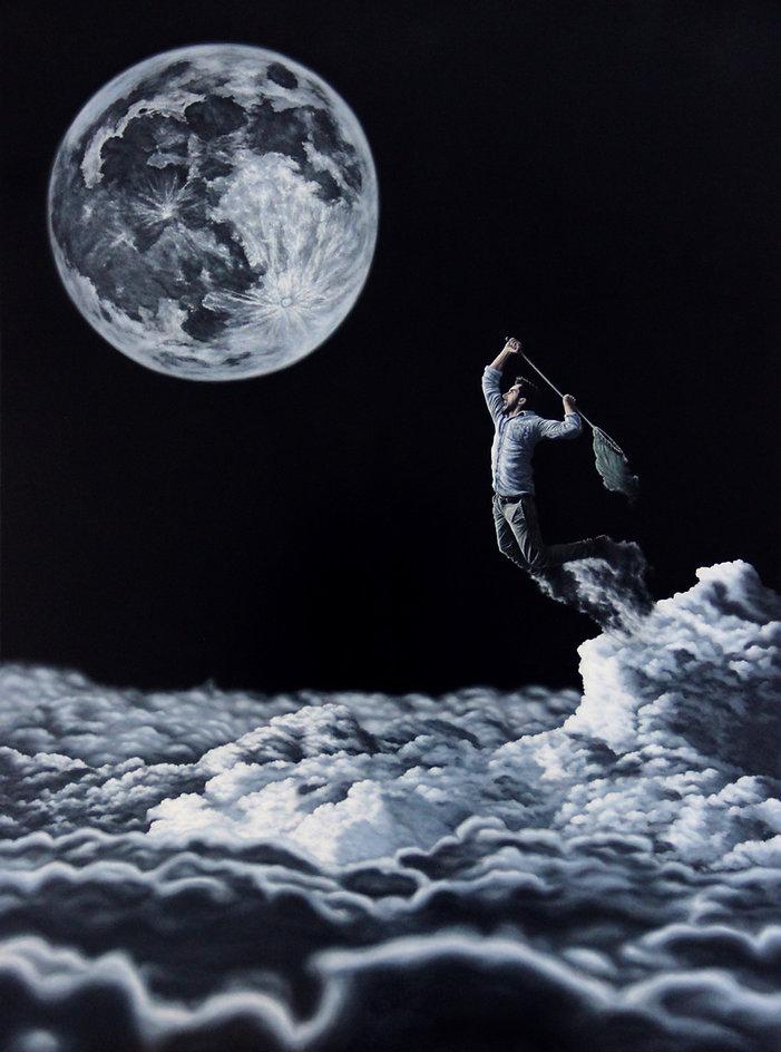 Dreamcatcher, huile sur toile 97 x 130