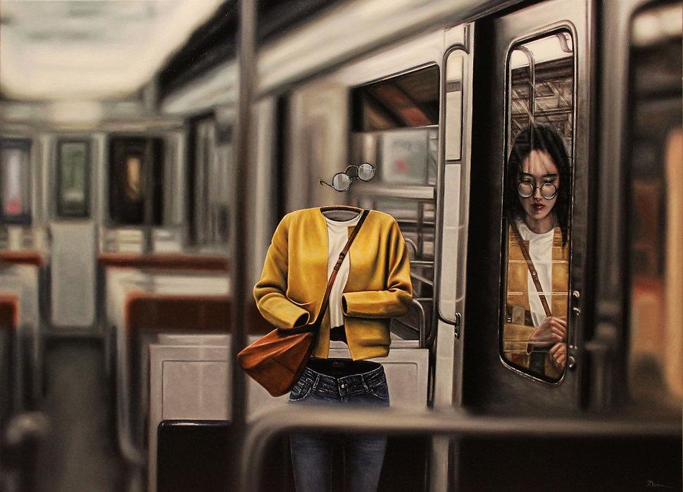 Offline, huile sur toile 92 x 65