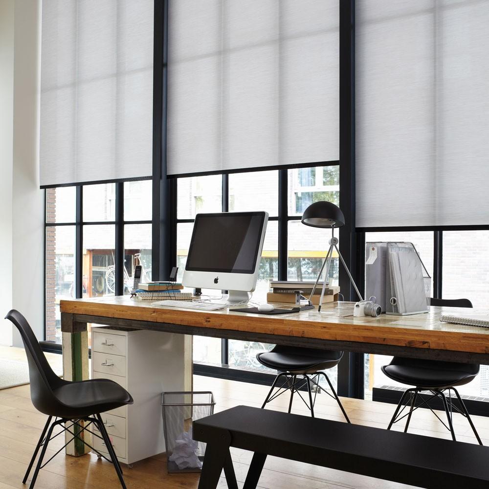 рулонные шторы для офиса белый цвет