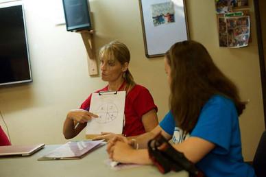 Angela Sharing Yak Apprentice Meeting co