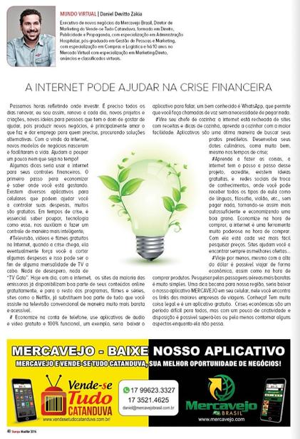 5 A INTERNET PODE AJUDAR NA CRISE FINANC