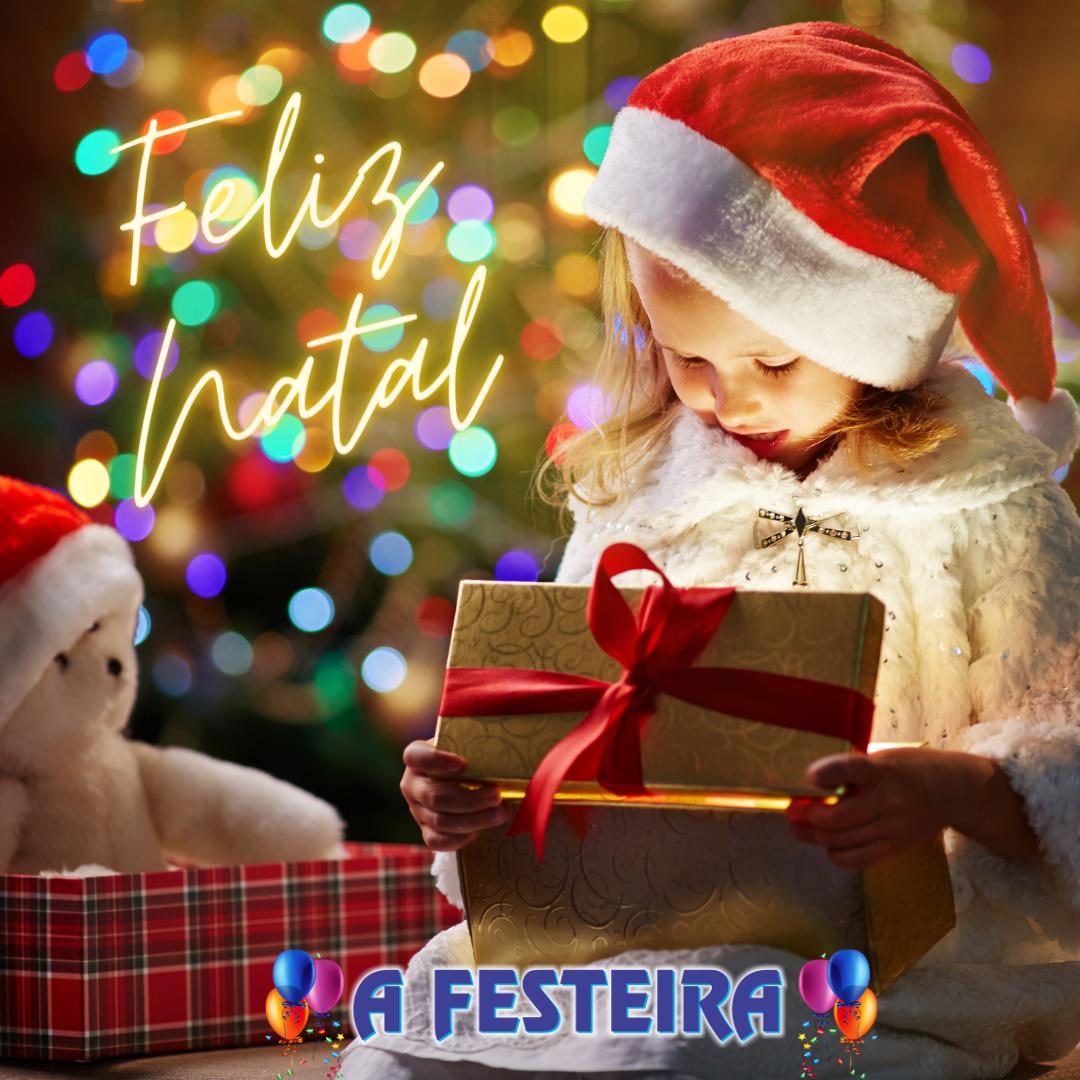 Post Vermelho de Feliz Natal para Instag