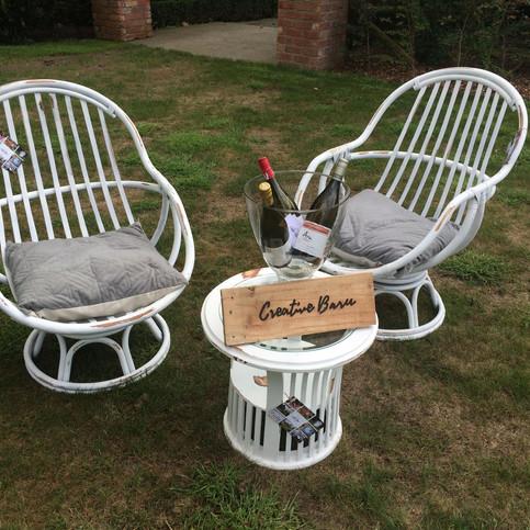 White Swivel Chairs